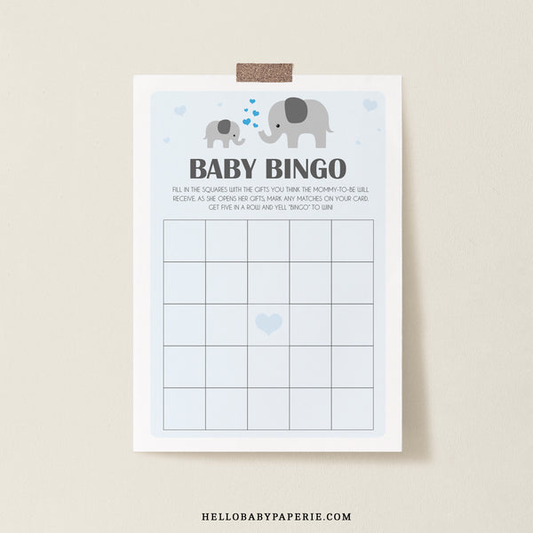 Boy Little Peanut Bingo Game Template