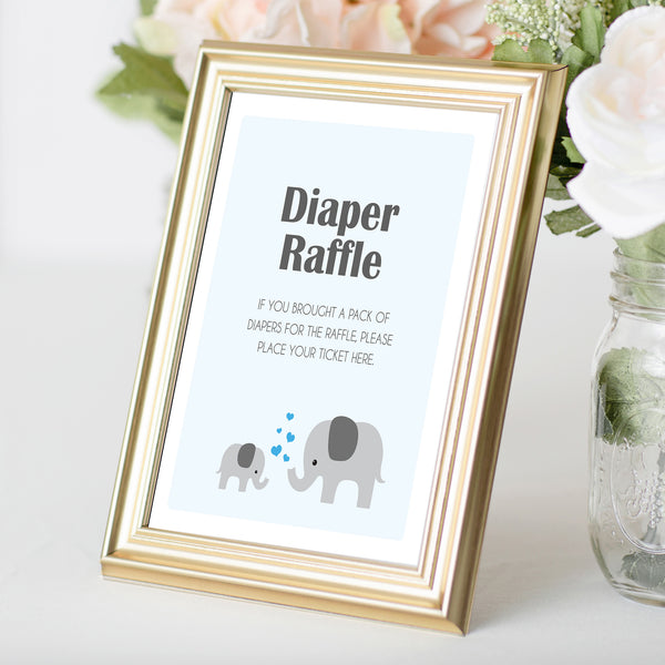 Boy Little Peanut Diaper Raffle Sign