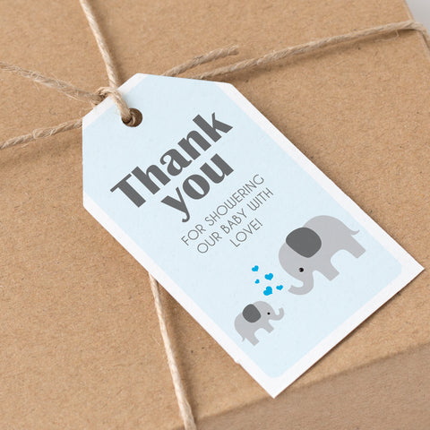 Boy Little Peanut Thank You Tags