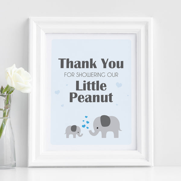 Boy Little Peanut Thank You Sign