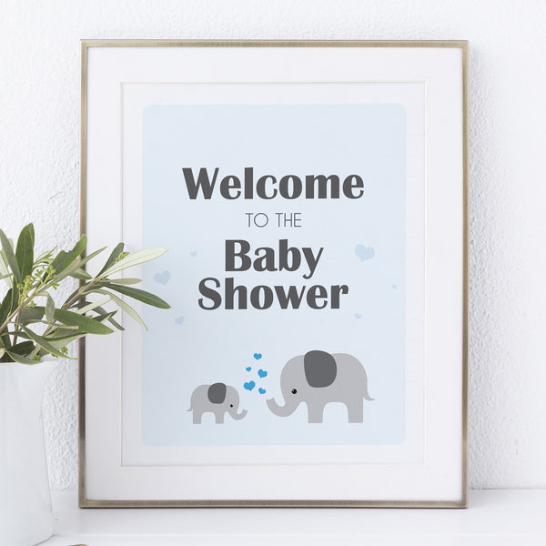 Boy Little Peanut Welcome Sign