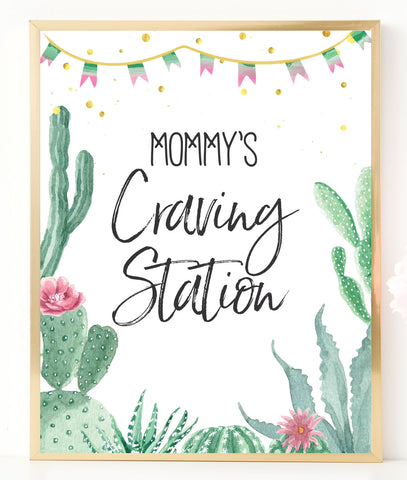 Fiesta Mommy's Craving Station Printable Sign - Hello Baby Paperie