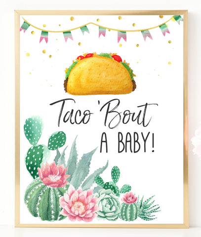 Fiesta Taco 'Bout a Baby Sign - Hello Baby Paperie