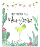 Fiesta Mom-Garita Printable Sign - Hello Baby Paperie