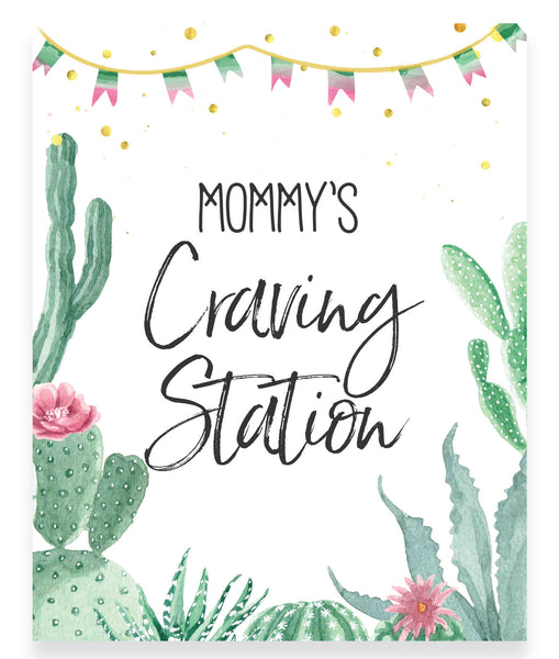 Fiesta Mommy's Craving Station Printable Sign