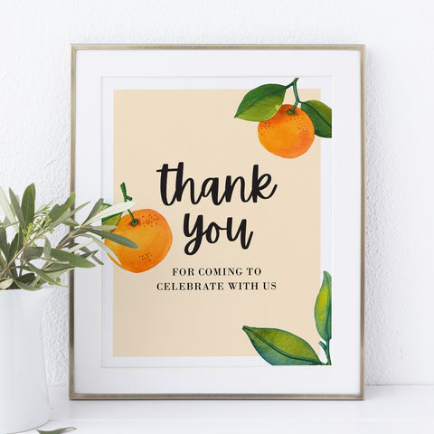 Little Cutie Baby Shower Thank You Sign