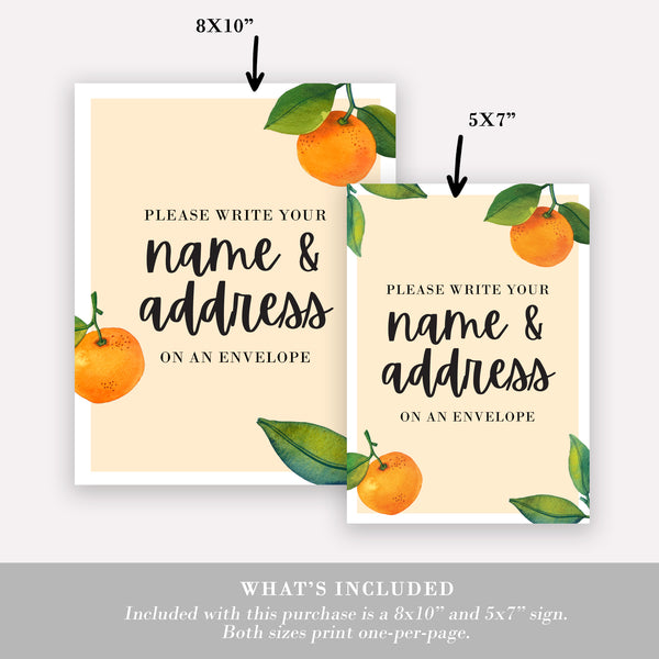 "8""x10"" Please Write Your Address on an Envelope Sign"