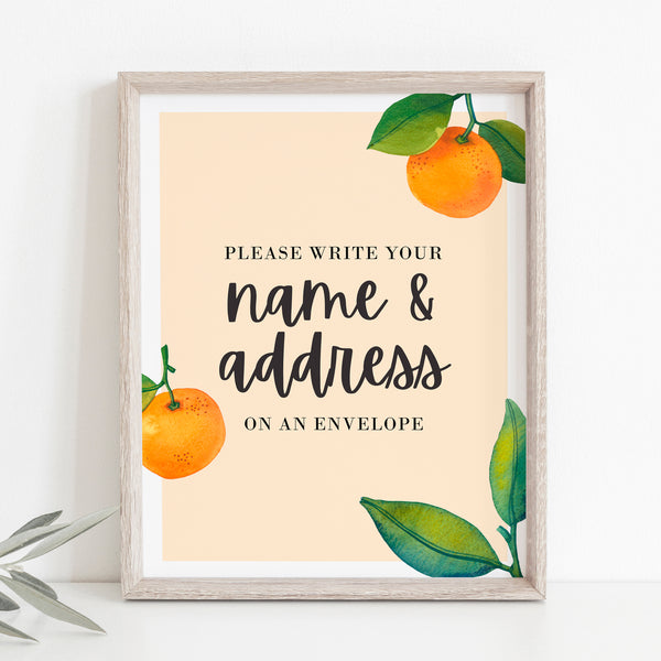 Little Cutie Baby Shower Make Yourself the Addressee Sign