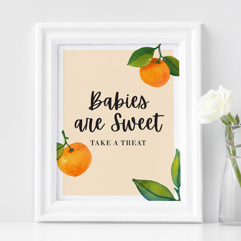 Babies are Sweet Sign - Hello Baby Paperie