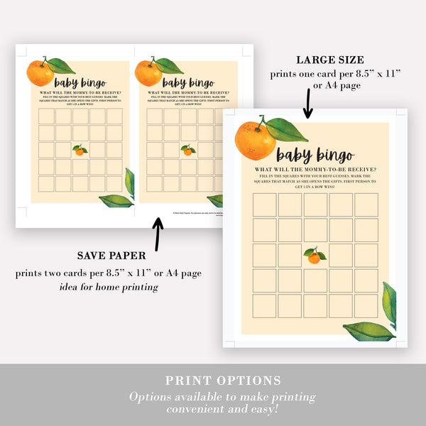 Little Cutie Baby Bingo Cards