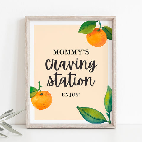 Little Cutie Mommy's Craving Station Sign