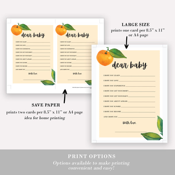 Little Cutie Dear Baby Cards
