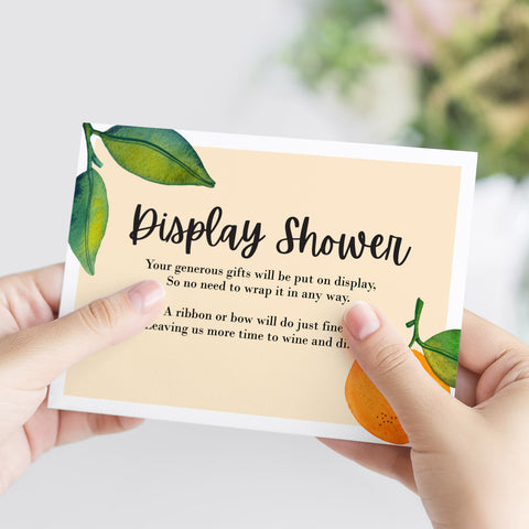 Little Cutie Display Shower Printable Card