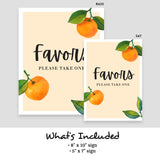 Little Cutie Favors Sign
