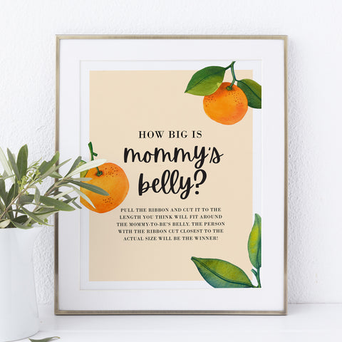Little Cutie Clementine How Big is Mommy's Belly Printable Game
