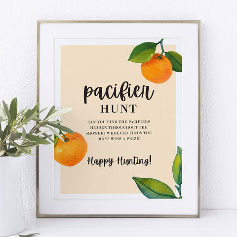 Little Cutie Pacifier Hunt Game Sign