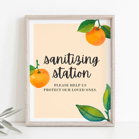 Little Cutie Sanitizing Station Sign