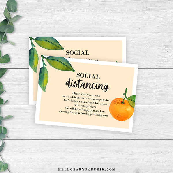 Little Cutie Social Distancing Cards