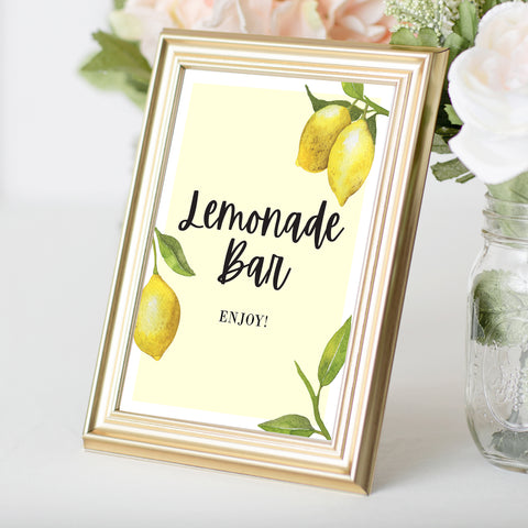 Lovely Lemon Lemonade Bar Sign
