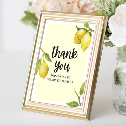 Lovely Lemon Thank You Sign
