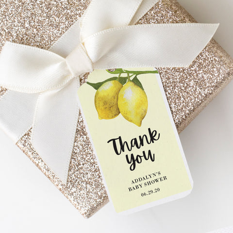 Lovely Lemon Personalized Baby Shower Tags