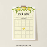 Lovely Lemon Baby Bingo Game