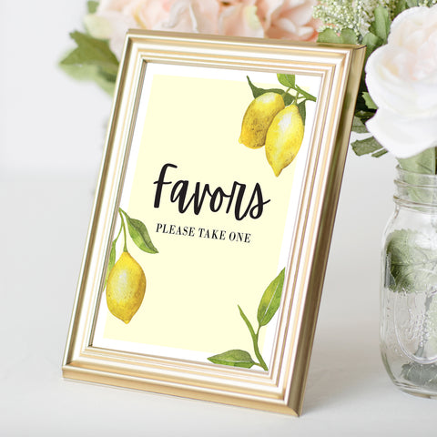 Lovely Lemon Favors Sign
