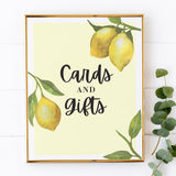 Lovely Lemon Cards and Gifts Sign