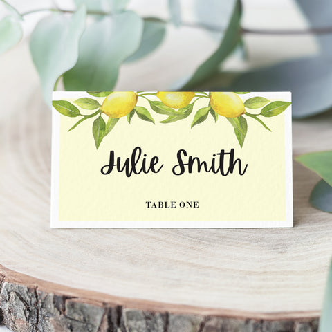 Lovely Lemon Place Cards
