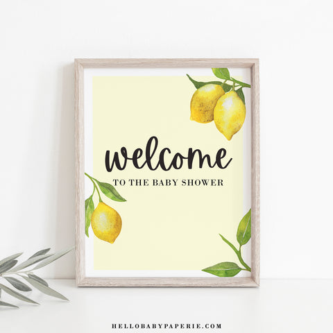 Lovely Lemon Welcome Sign