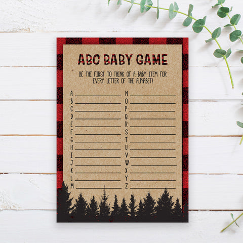 Lumberjack ABC Baby Game Template