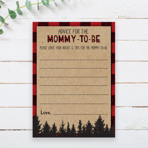 Lumberjack Advice for Mommy Card Template