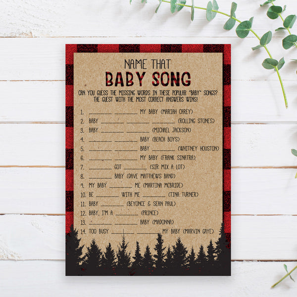 Lumberjack Name the Baby Song Game Template - Hello Baby Paperie