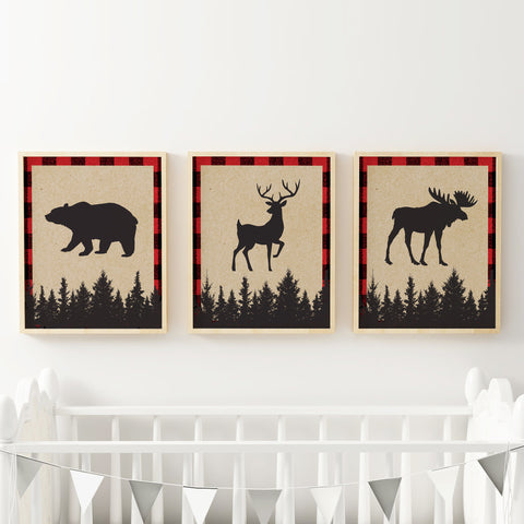 Lumberjack Nursery Artwork
