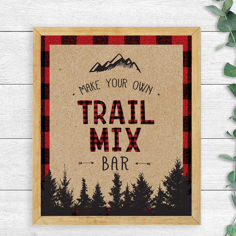 Lumberjack Trail Mix Bar Sign