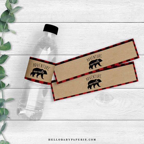 Lumberjack Water Bottle Labels