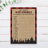 Lumberjack Word Scramble Game Template