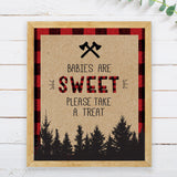 Lumberjack Babies are Sweet Sign