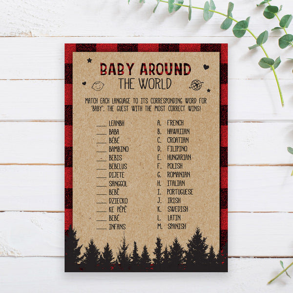 Lumberjack Baby Around the World Game Template
