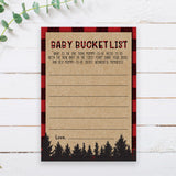 Lumberjack Baby Bucket List Cards Template