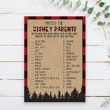Lumberjack Disney Parent Match Game Template - Hello Baby Paperie