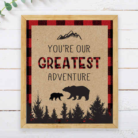 Lumberjack Greatest Adventure Sign