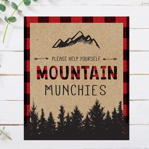 Lumberjack Mountain Munchies Sign