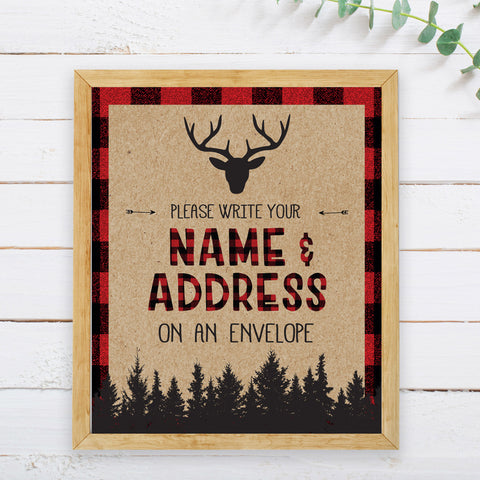 Lumberjack Address an Envelope Sign