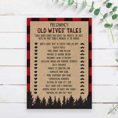 Lumberjack Old Wive's Tales Game Template