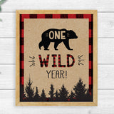 Lumberjack One Wild Year Sign