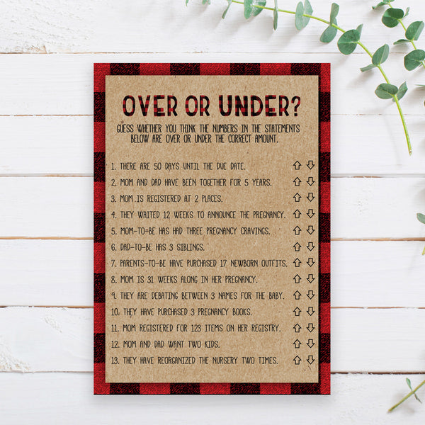 Lumberjack Over or Under Game Template