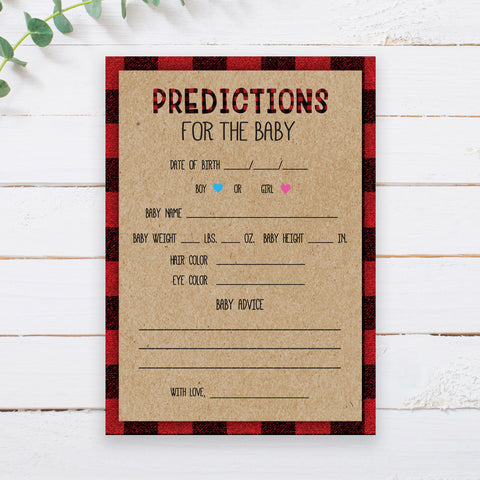 Lumberjack Predictions for the Baby Card