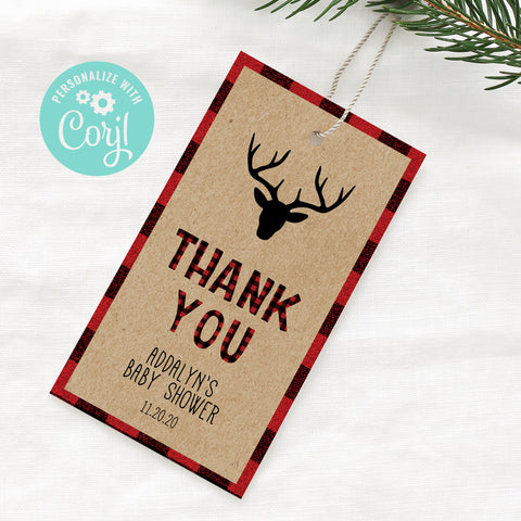 Lumberjack Thank You Gift Tags