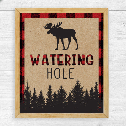 Lumberjack Watering Hole Sign